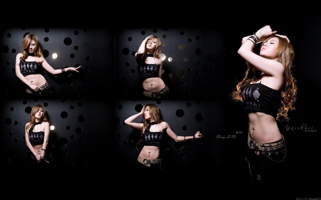 women actress models fashion hwang mi hee asians korean navel Hot Girls Asian wallpaper