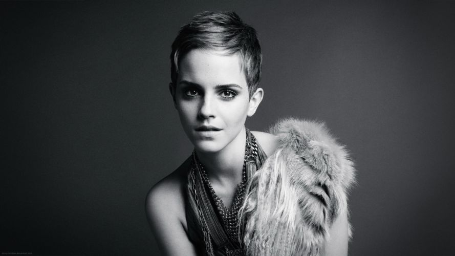women emma watson actress monochrome fashion photography greyscale Hot Girls Babes wallpaper