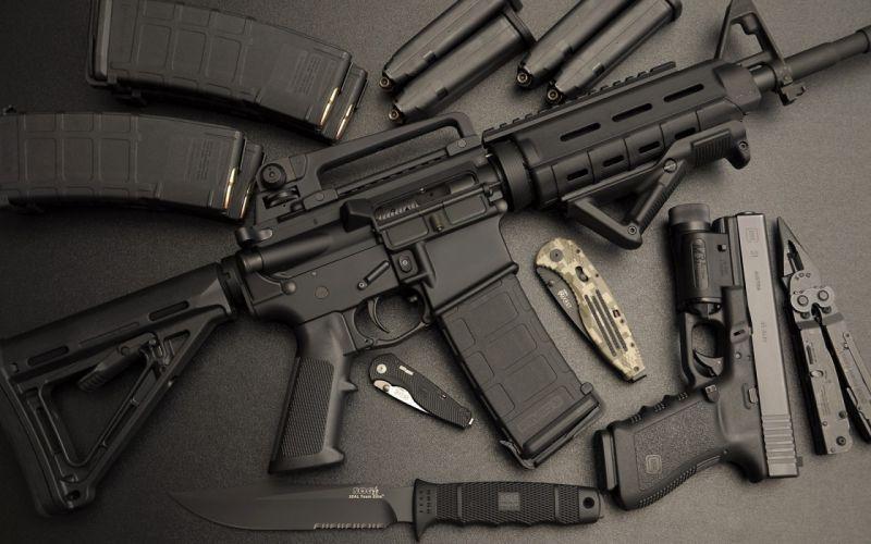 assault rifle ar-15 automatic weapon weapons gun guns pistol military wallpaper