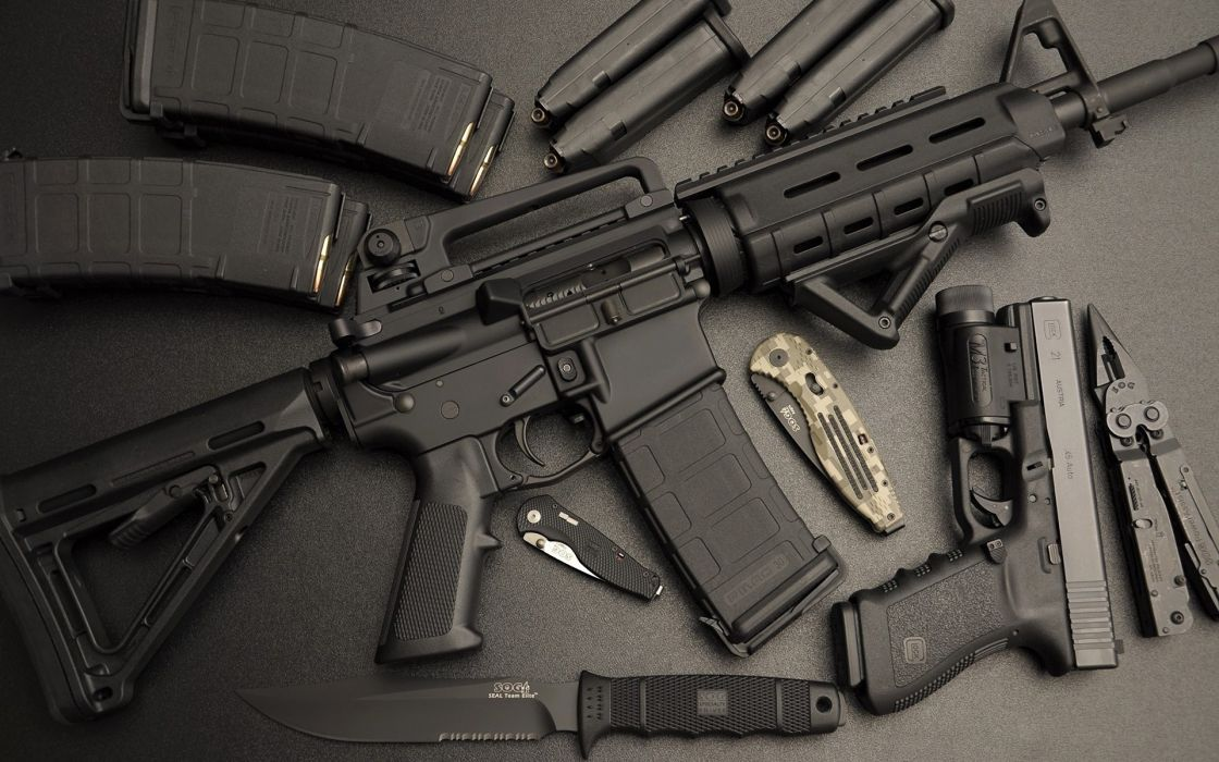 assault rifle ar-15 automatic weapon weapons gun guns pistol military wallpaper