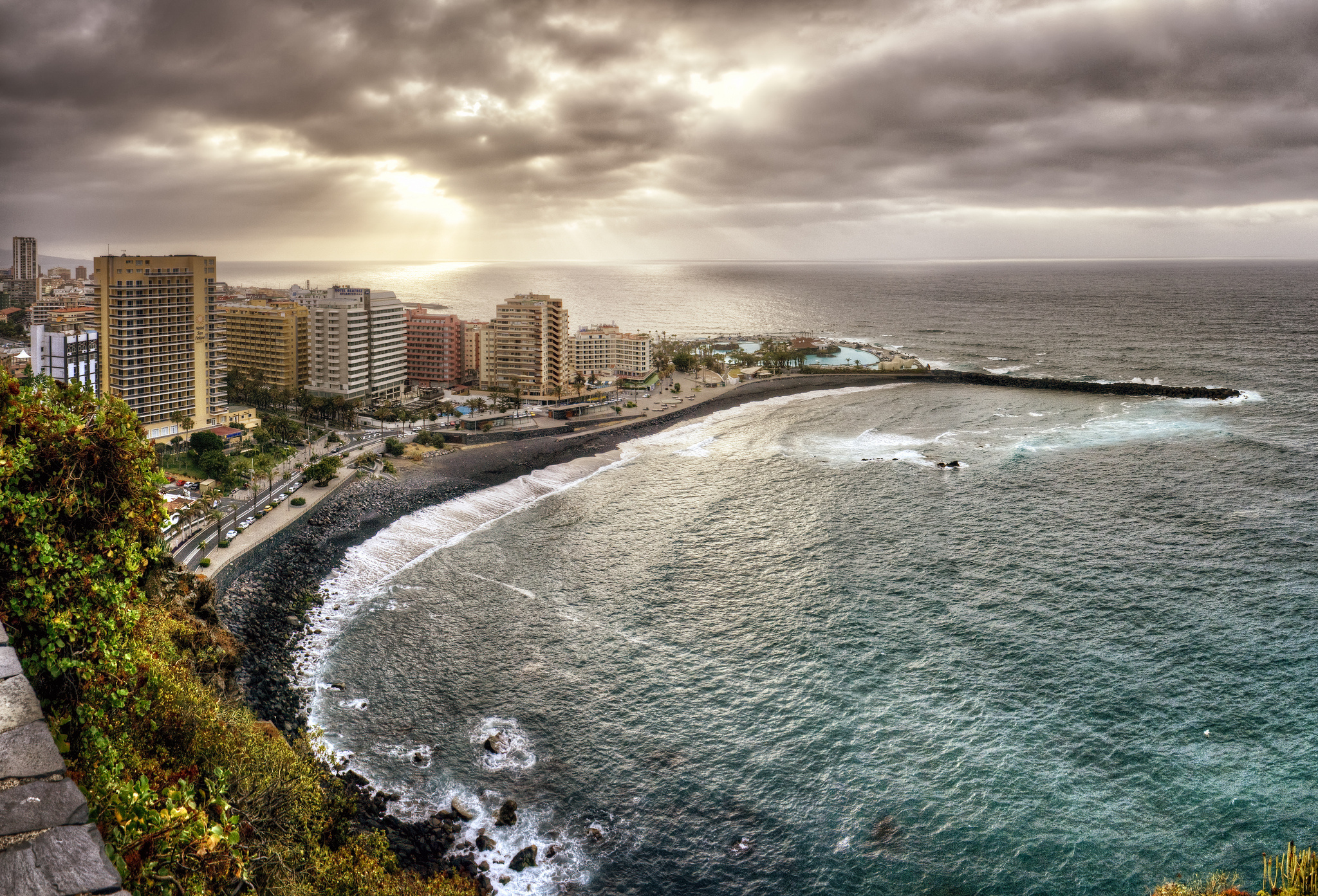 Canary Islands Atlantic Ocean coast buildings ocean landscape