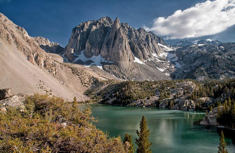 landscape mountain lake wallpaper