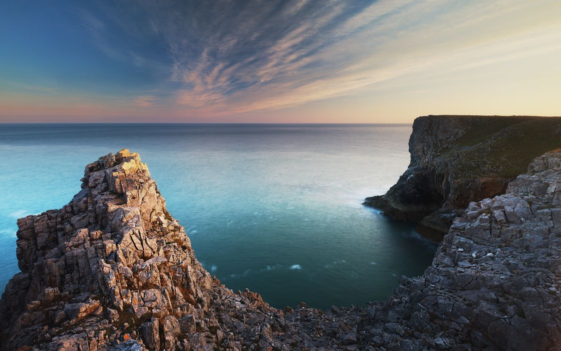 Ocean south wales rock wallpaper