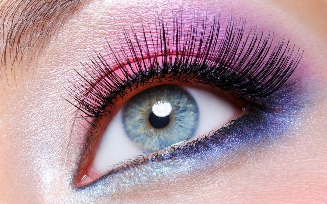 Woman Girl Eye Eyelashes Makeup wallpaper