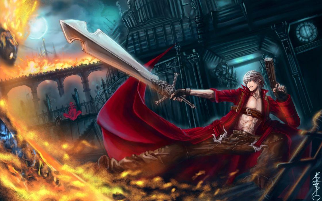 Devil May Cry 3 Dmc 3 Fantasy Warrior Magic Fire Sword