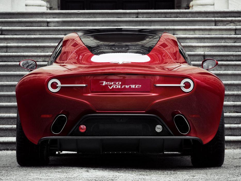 Touring  Alfa Romeo  Disco Volante  zadok  exhausts supercar wallpaper