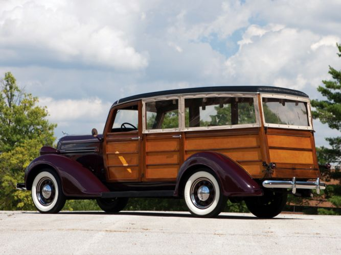 1936 Dodge Westchester Suburban retro stationwagon wood h wallpaper