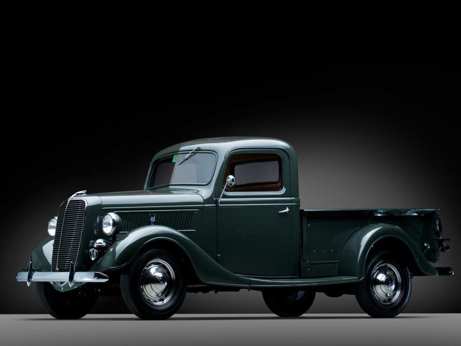 1937 Ford V8 Deluxe Pickup truck retro v-8    h wallpaper