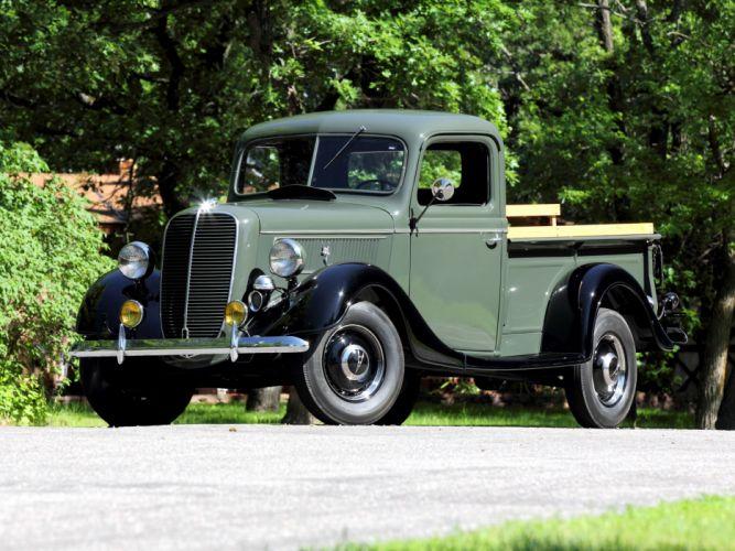 1937 Ford V8 Deluxe Pickup truck retro v-8 g wallpaper