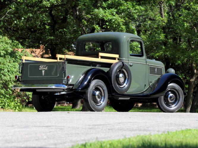 1937 Ford V8 Deluxe Pickup truck retro v-8 wallpaper