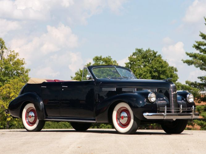 1940 LaSalle Convertible Sedan retro wallpaper