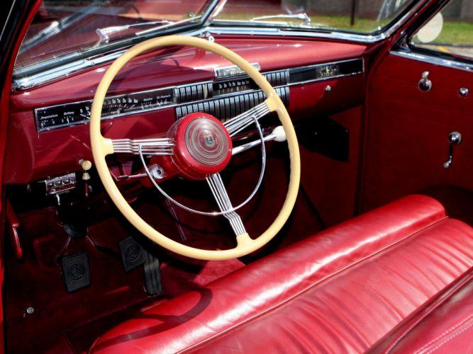 1940 LaSalle Convertible Sedan retro interior wallpaper
