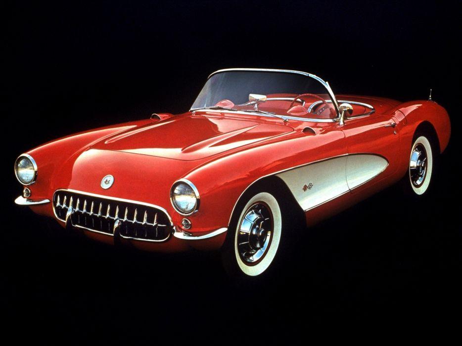 1957 Chevrolet Corvette C-1 supercar muscle retro   h wallpaper