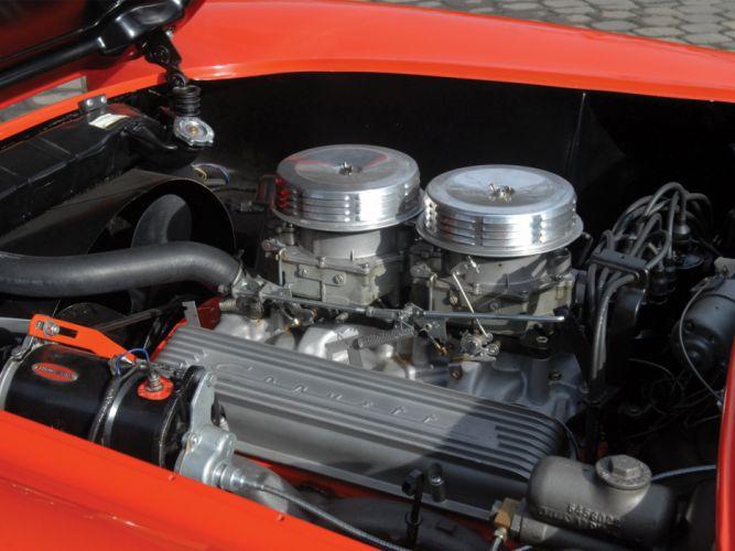 1957 Chevrolet Corvette C-1 supercar muscle retro engine wallpaper
