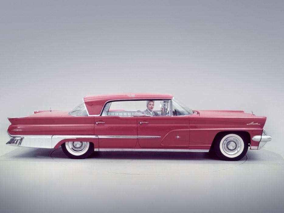 1959 Lincoln Premiere Landau 4-door Hardtop 57B luxury retro wallpaper