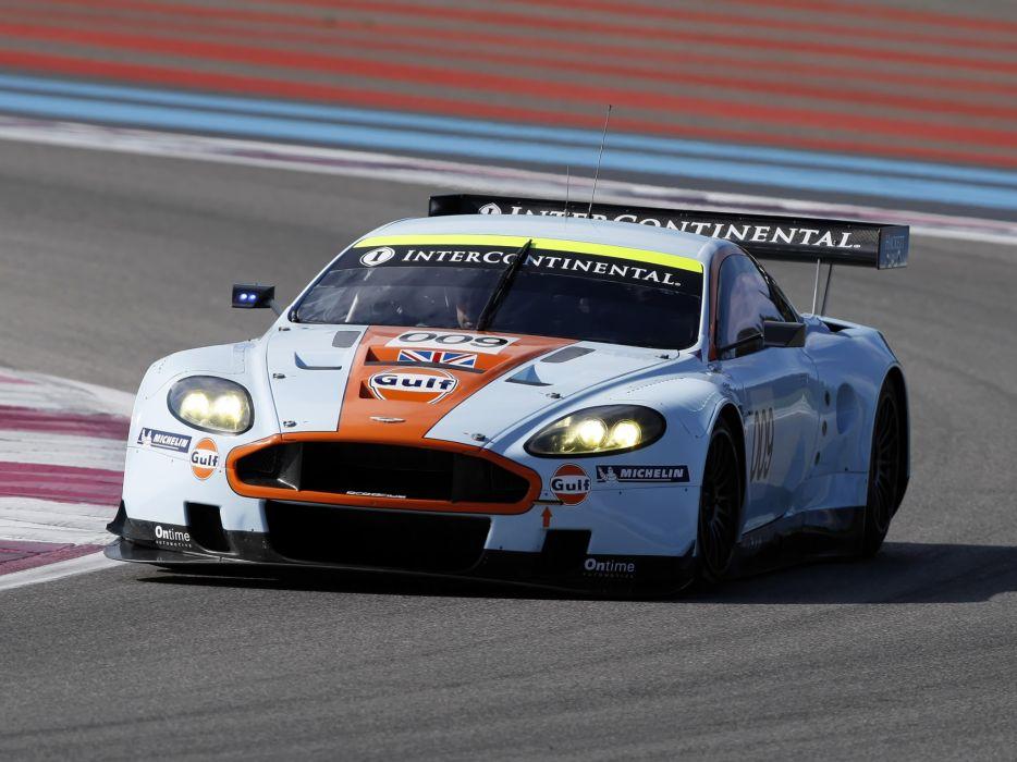 2008 Aston Martin DBR9 Gulf Oil Livery race racing   fw wallpaper