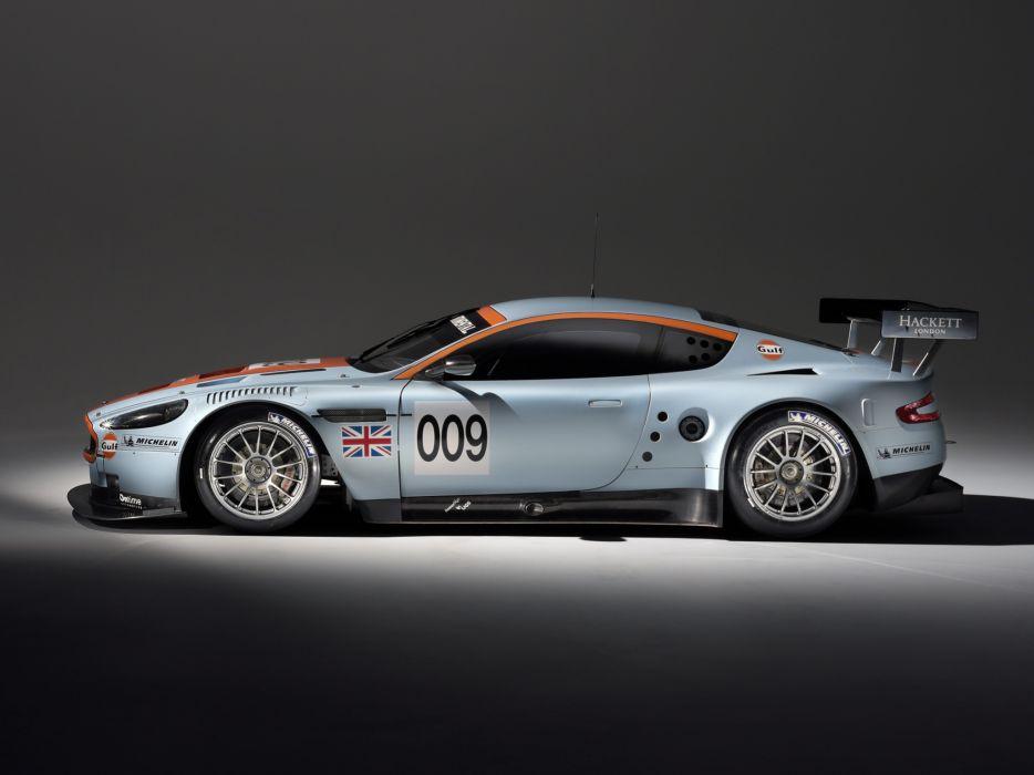 2008 Aston Martin DBR9 Gulf Oil Livery race racing  h wallpaper