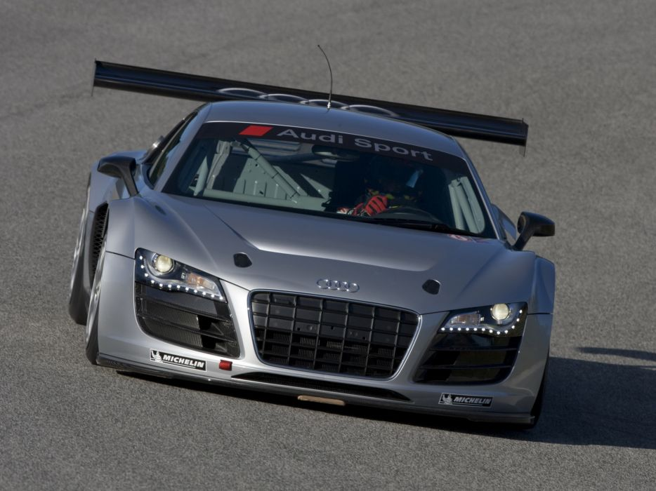 2008 Audi R8 LMS Prototype supercar race racing wallpaper