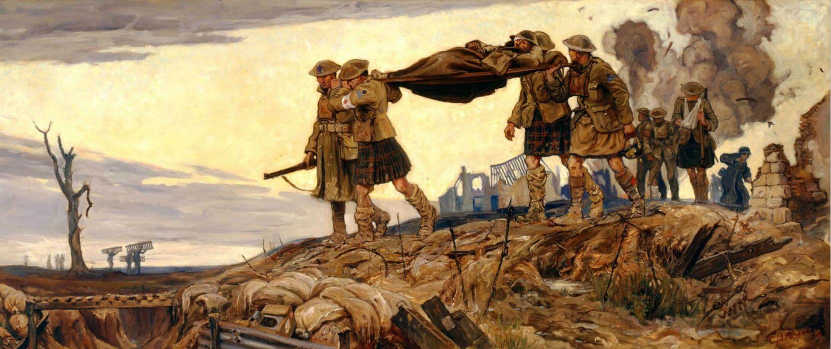 battle war military art painting wallpaper