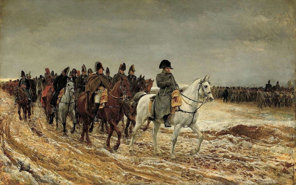 Image result for Napoleon's retreat from Moscow