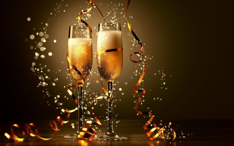 Two Glasses Champagne wallpaper