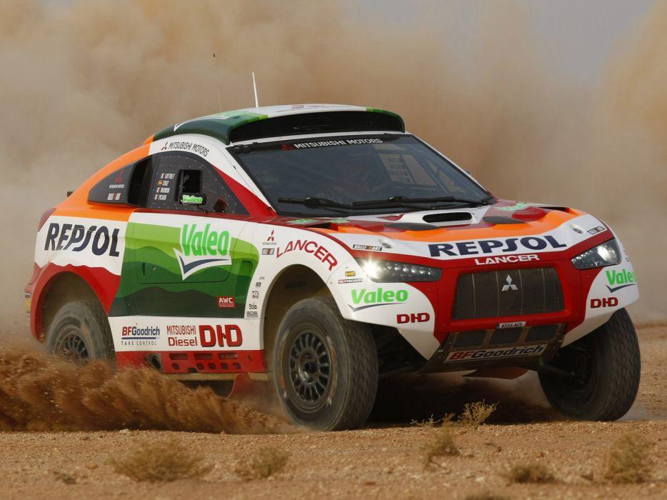 2008 Mitsubishi Racing Lancer offroad race   g wallpaper