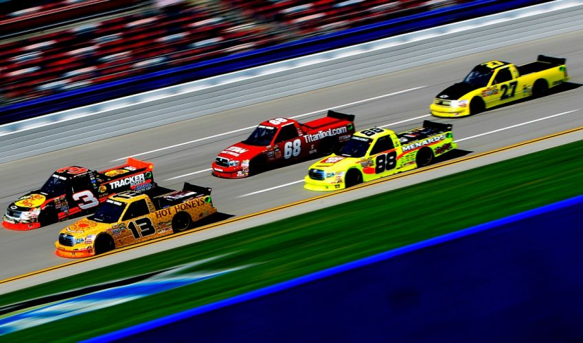 nascar race racing truck hf wallpaper