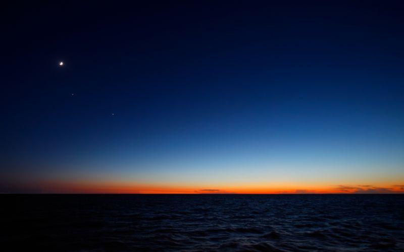 sky and sea blue wallpaper
