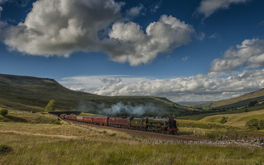 England landscape train wallpaper