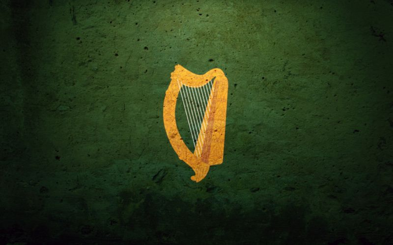 Ireland Flag Coat_Of_Arms_Harp Irish_Harp wallpaper