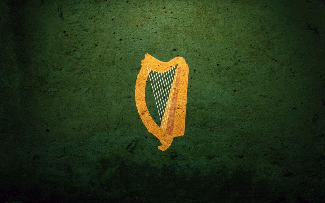 Ireland Flag Coat_Of_Arms_Harp Irish_Harp wallpaper
