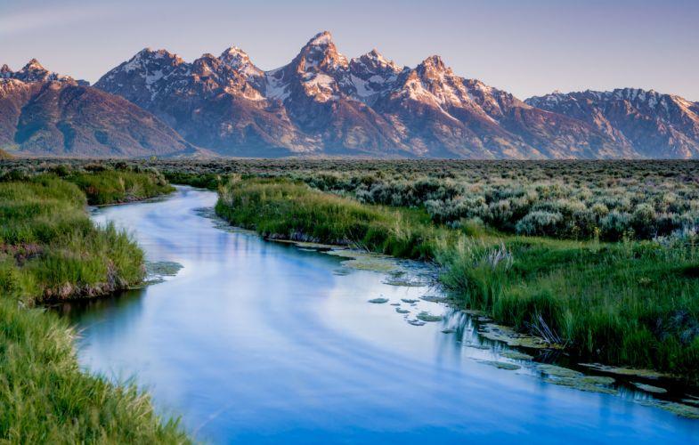 grand teton national park usa river mountains wyoming wallpaper
