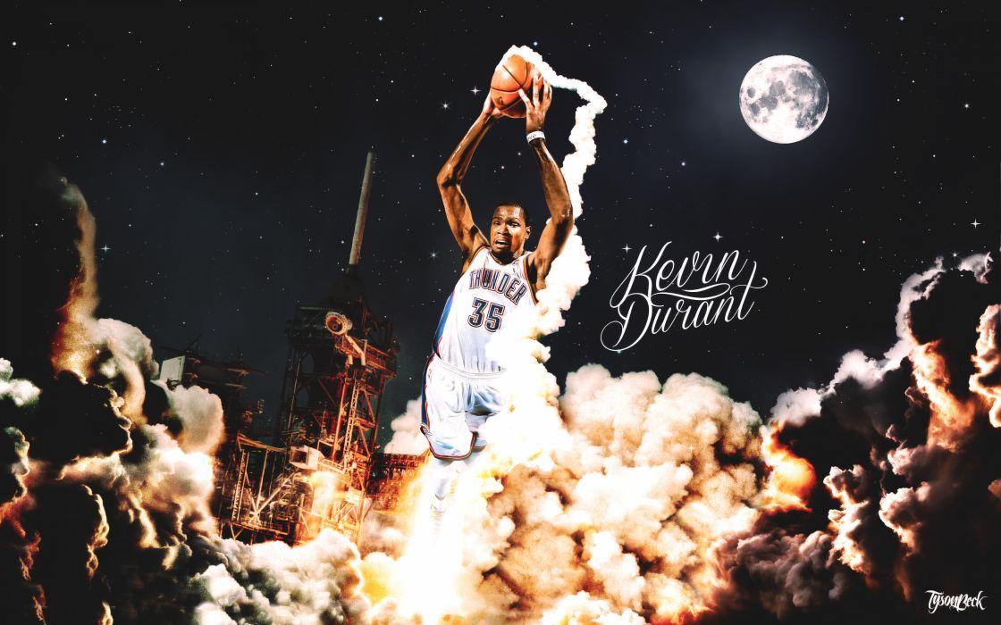 Kevin Durant Oklahoma City Thunder Sports Basketball NBA wallpaper