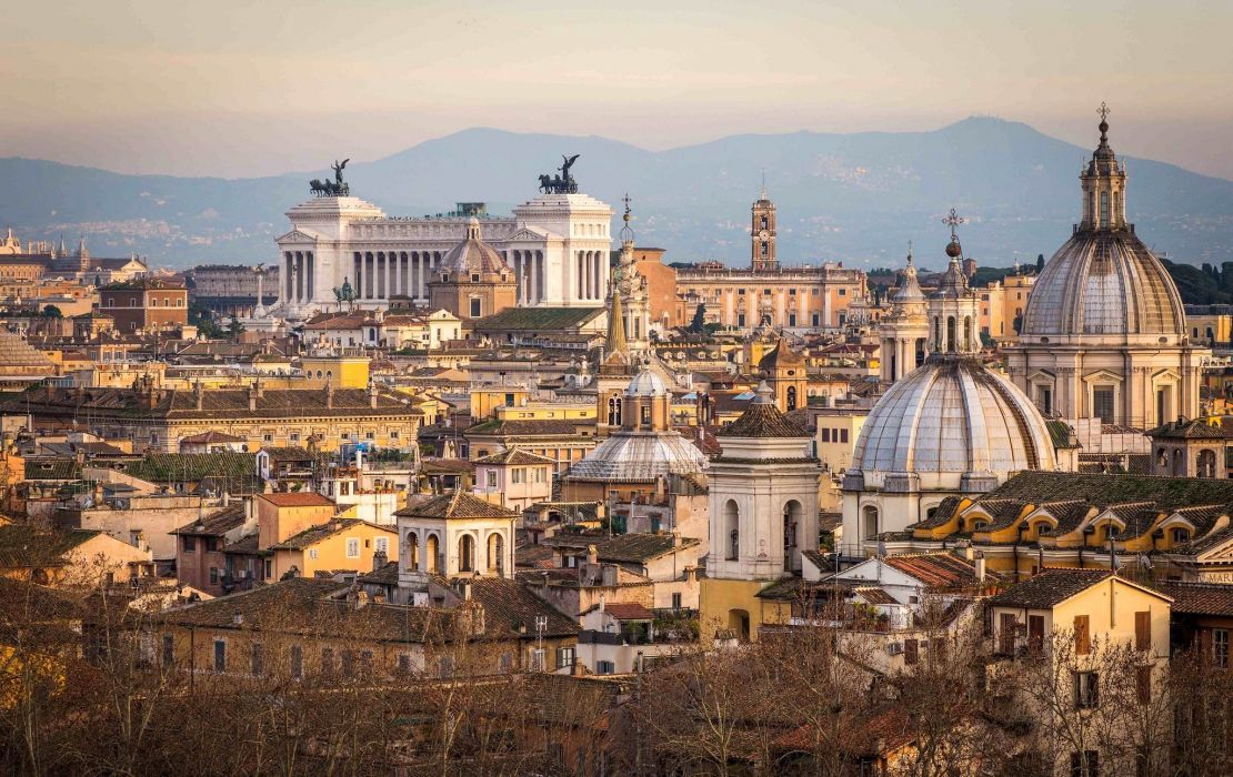 panorama city rome italy    h wallpaper
