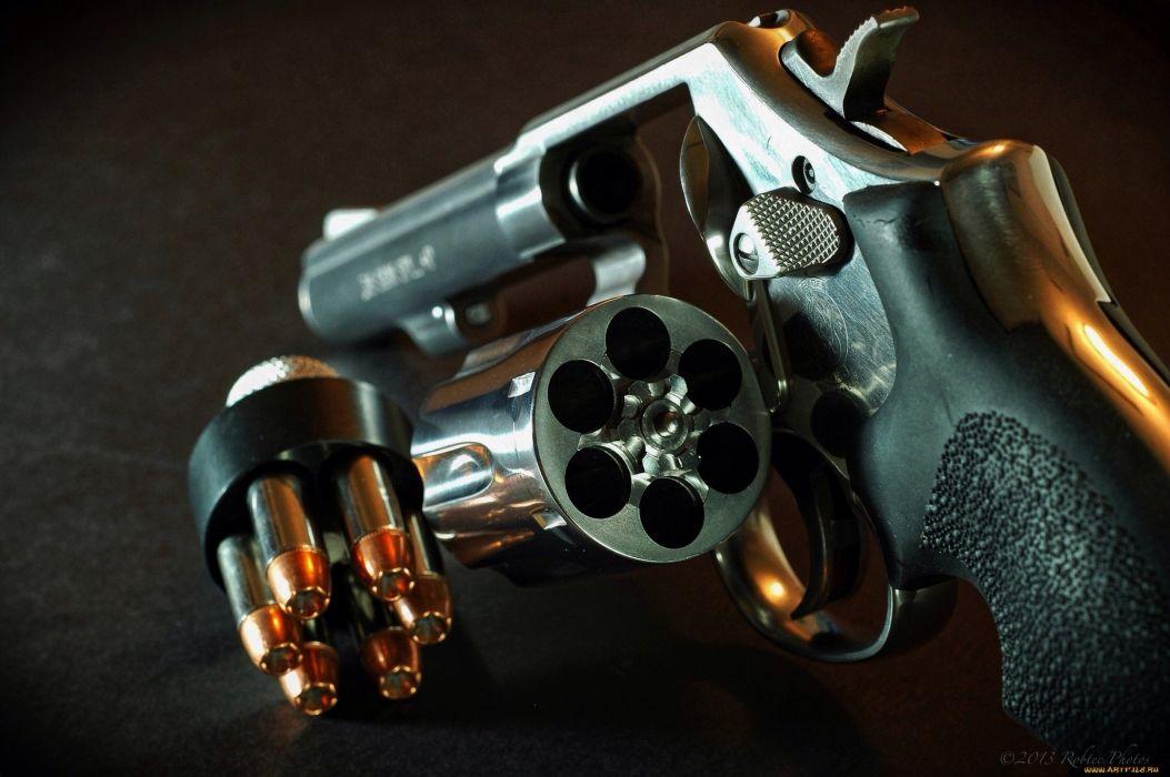 Revolver firearm drum cartridges weapon pistol ammo ammunition wallpaper