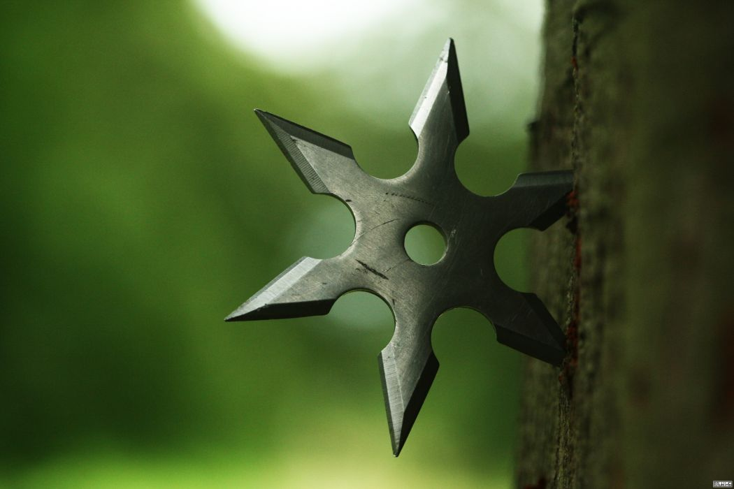 Shuriken wood ninja metal weapon martial arts wallpaper