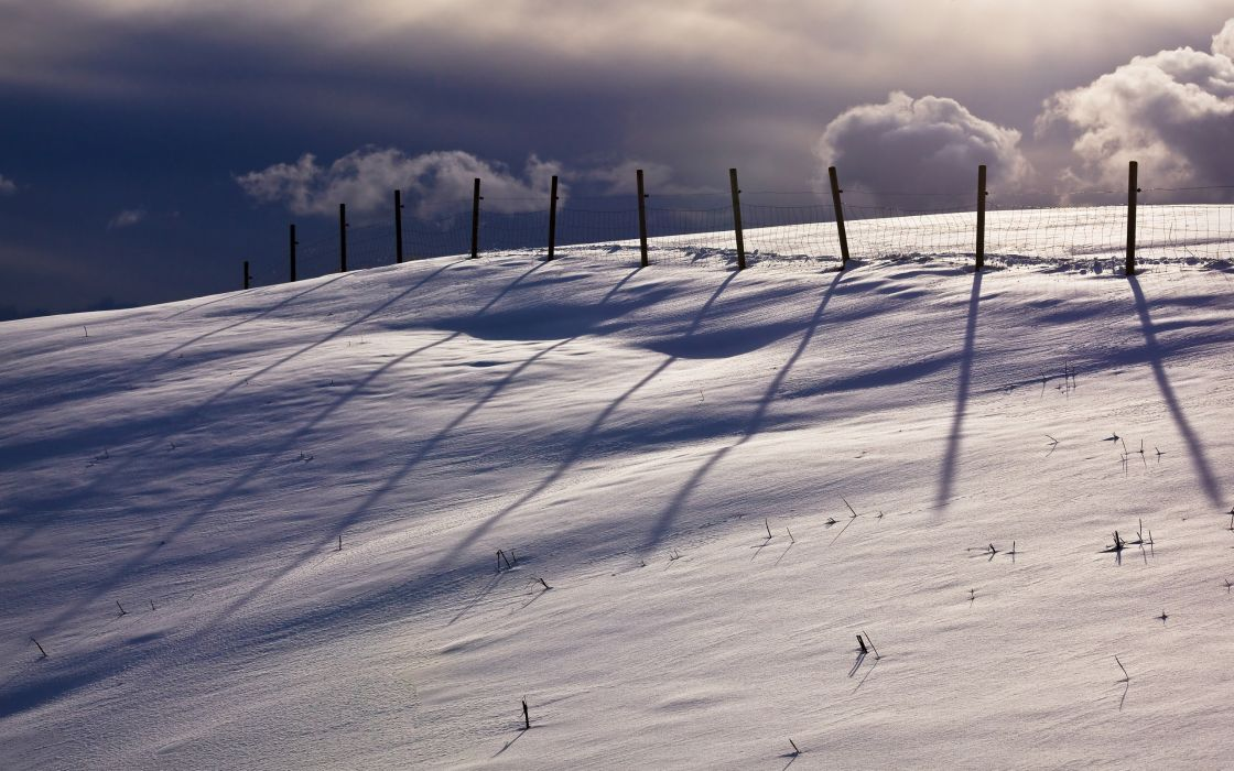 winter  fence  nature  landscape wallpaper