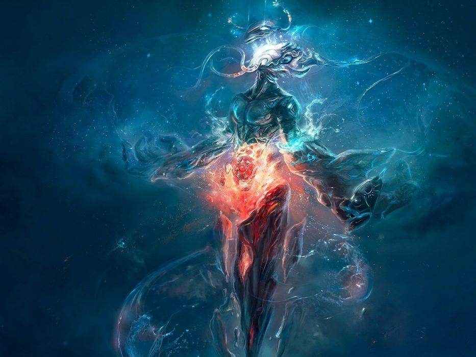 Abstract Fantasy Art Digital Artwork Underwater wallpaper
