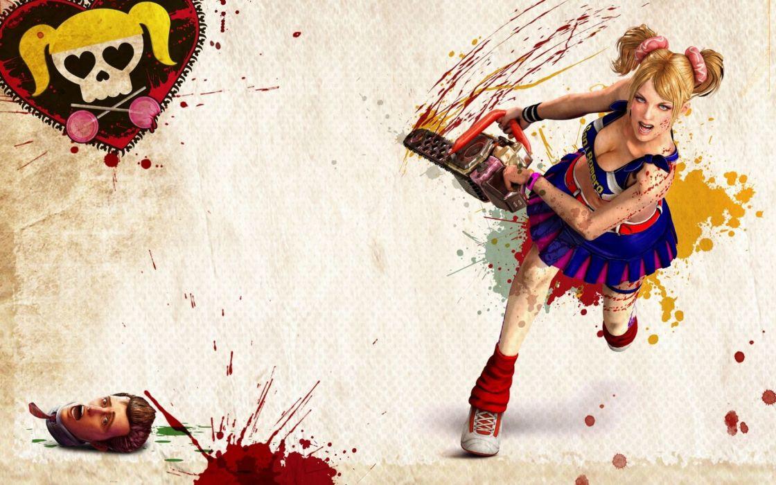 Lollipop Chainsaw Chainsaw Juliet Starling Cheerleader Blonde Blood wallpaper