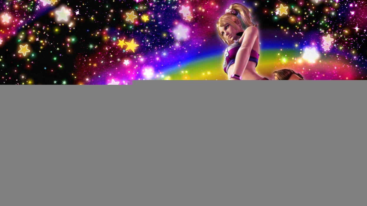 Lollipop Chainsaw Chainsaw Juliet Starling Cheerleader Blonde Stars wallpaper