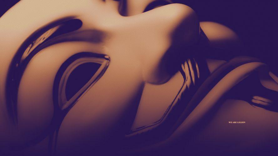 Mask Anonymous Legion Macro anarchy wallpaper