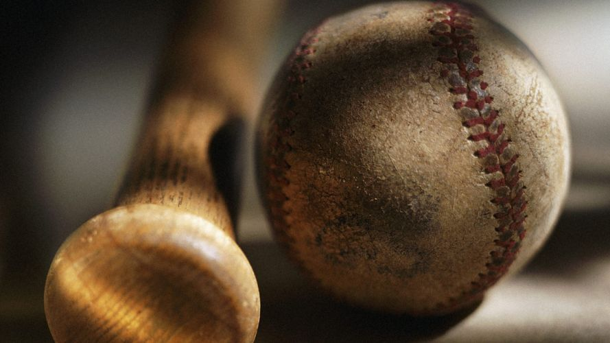 MLB Macro Baseball Bat Ball wallpaper