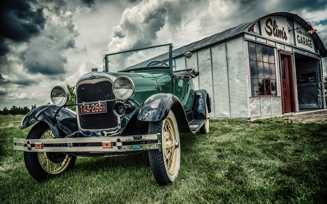 retro ford hdr wallpaper
