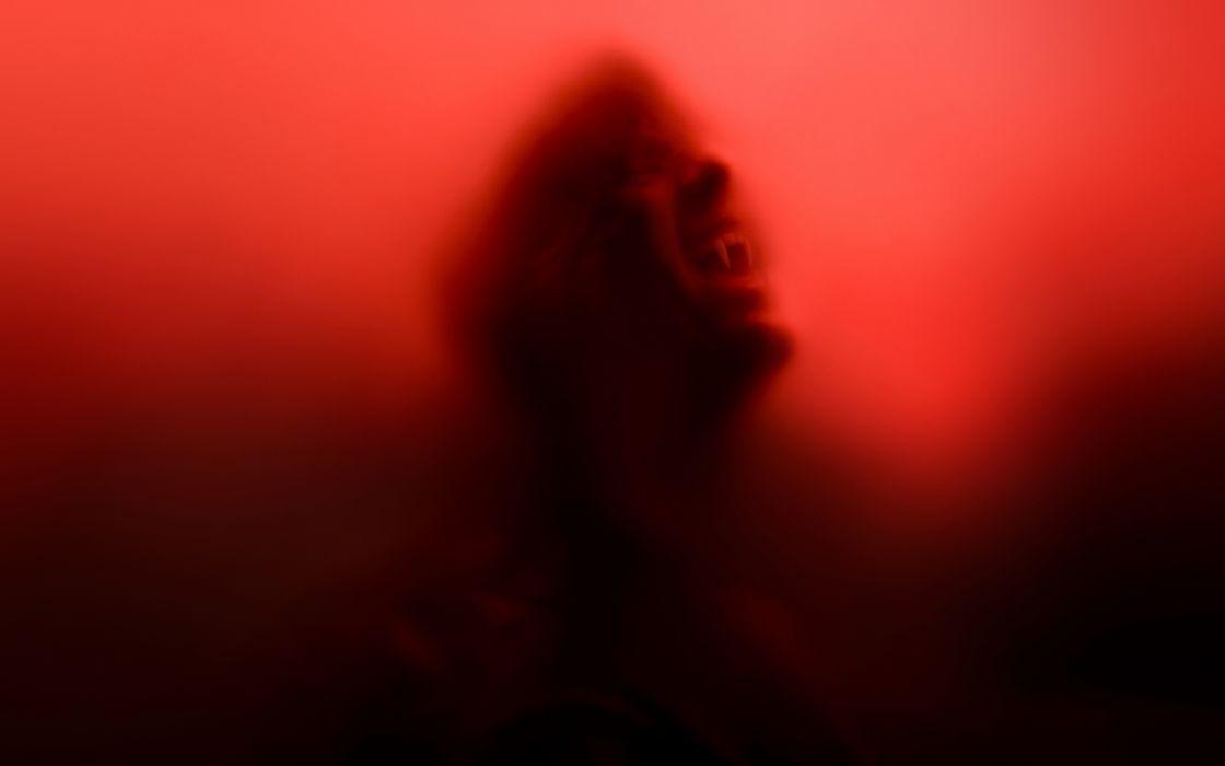 True Blood Red Vampire Fangs dark wallpaper
