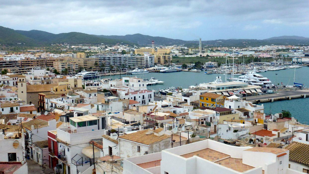House Ibiza Balearic Islands Cities wallpaper