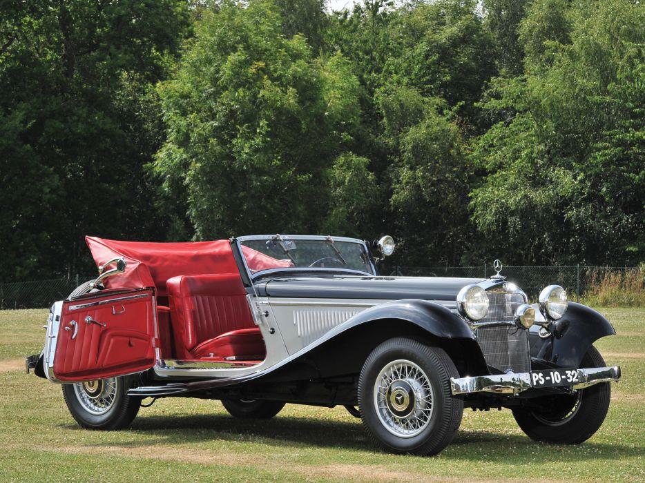 1933 Mercedes Benz 290 Cabriolet A W18 luxury retro interior wallpaper