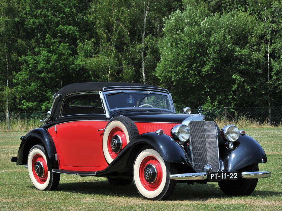 1937 Mercedes Benz 230 N Cabriolet A W143 retro luxury wallpaper