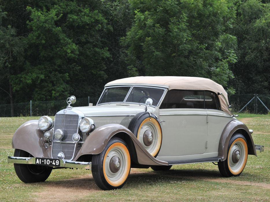 1937 Mercedes Benz 320 Cabriolet B W142 luxury retro   f wallpaper