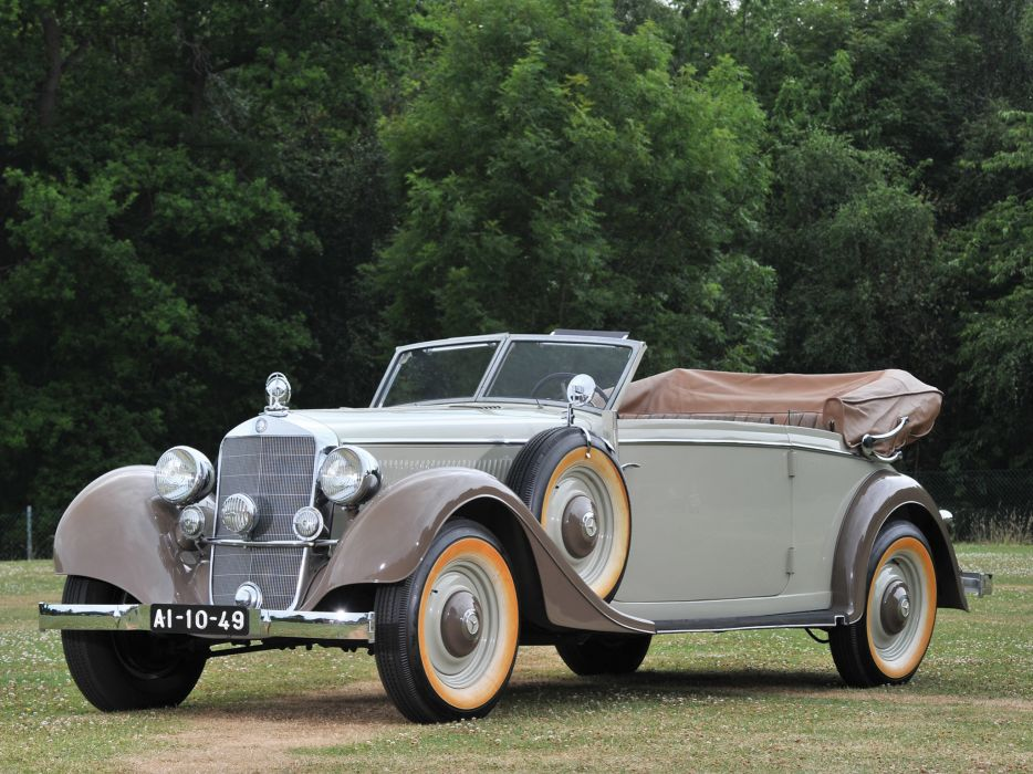 1937 Mercedes Benz 320 Cabriolet B W142 luxury retro wallpaper