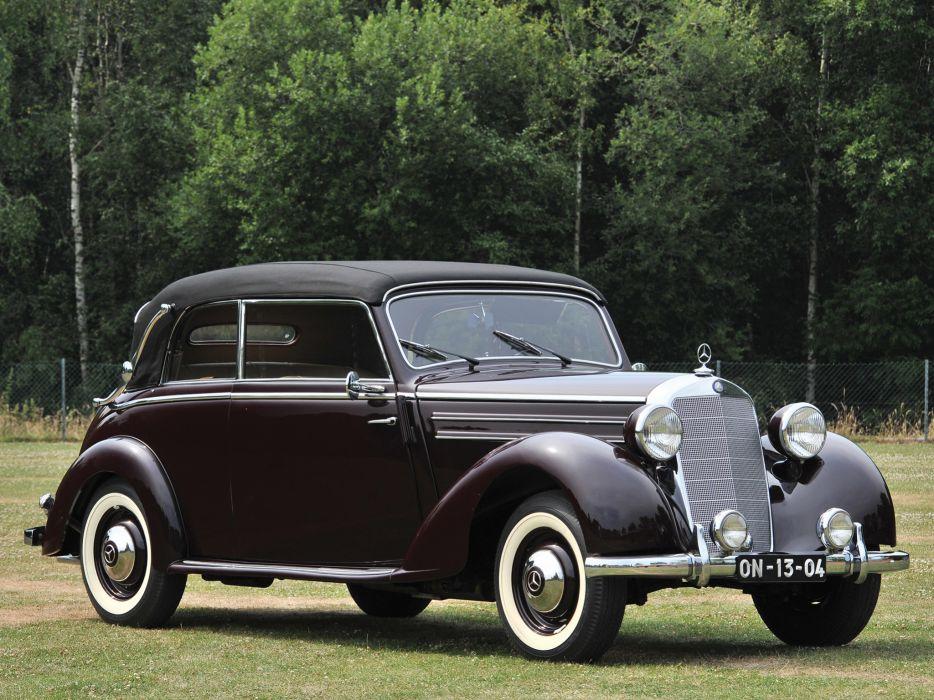 1950 Mercedes Benz 170 S Cabriolet B luxury retro  g wallpaper